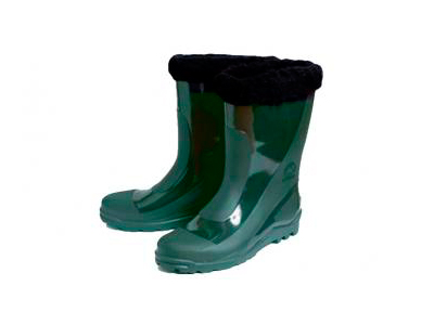 Boots insulated rubber mens green