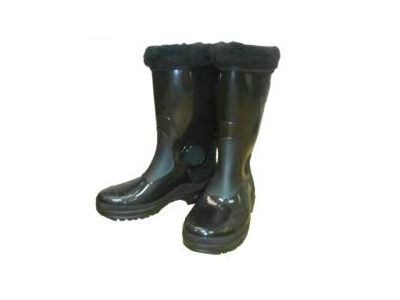 Boots womens green rubber insulated