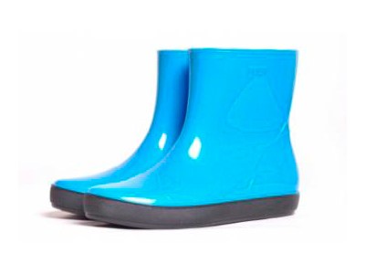Rubber boots women blue