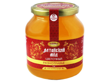 "Honey of Altai ""GRASS"" in a glass jar 1000g"