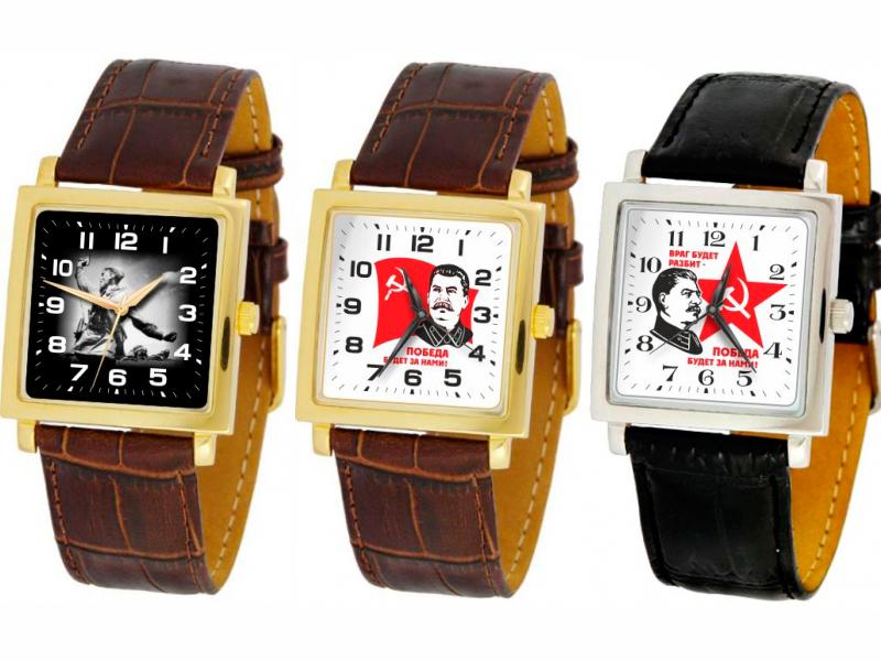 Uhr Slava Josef Stalin und das Russische Wappen