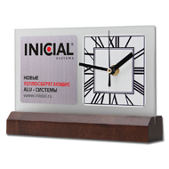 Desk clock with Your logo