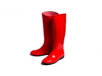 Botas de goma para mujer rojo