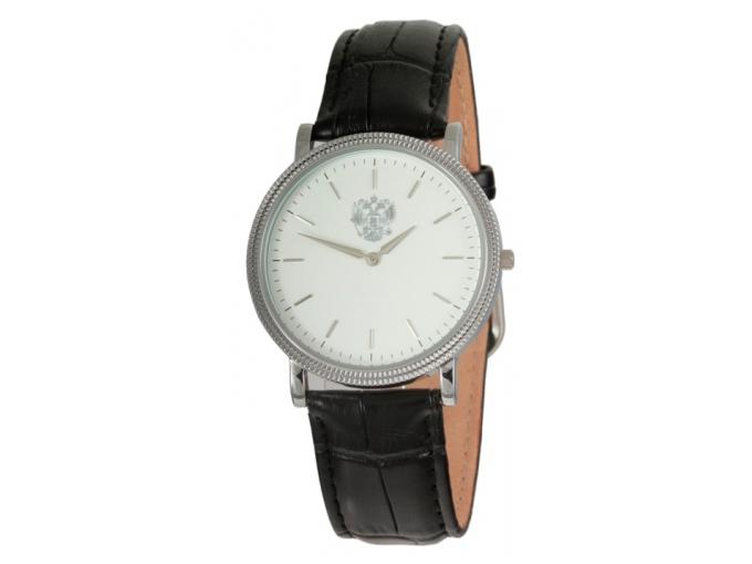 El reloj de la Gloria con un dial de plata un águila bicéfala