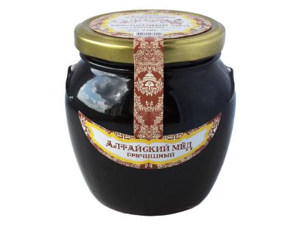 """La miel de altai """"trigo sarraceno"""" en un tarro de cristal 1000gr"""